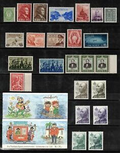 Norway 1872-. Collection of 44.MNH/MLH.Very Fine
