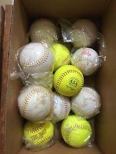 New Softballs - Mixed Lot of 12 Includes 5 Trump Stote Max Comp .375 44Cor Asa