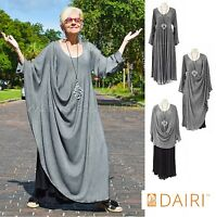 DAIRI Moroccan Sousdi  139-SV 2-LAYER  MAGIC DRESS  OS+ (fits M-3X) SILVER/BLACK