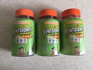 Flintstones Children's Sour Multivitamin Gummies Lot of 3- 70 count (210 total)