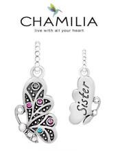 Genuine chamilia 925 de plata y Swarovski hermana Petite mariposa encanto grano