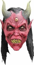 Halloween KALI DEMON WITH HORNS ADULT LATEX DELUXE MASK COSTUME Haunted House