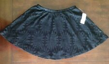 LA Hearts Black Lace Detailed Skater Skirt Sz SMALL NEW with tags