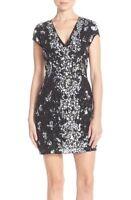 * NWT Parker Black Serena Embellished Body-Con Black Silver White Dress 2
