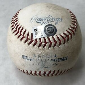 MLB Authentic Game Used Baseball Adam Jones Single Oakland Athletics 2014