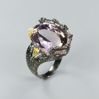 Natural Ametrine 925 Sterling Silver Ring Size 8.25/RR17-1311