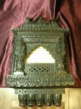 "Unique Atq Tramp Folk Art or Jharokha style Frame- 23""Tx14""Wx3.5""deep-free ship"