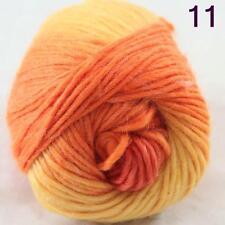 SALE NEW Chunky Colorful Hand Knitting Scores Wool Yarn Yellow Orange
