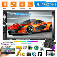 "7"" Inch HD Car Stereo Radio MP5 Player FM 2DIN Touch Screen Bluetooth USB/TF/AUX"