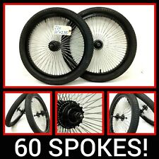 """20"""" Bicycle 60 Spoke Alloy Wheel Set Front, Rear, With 2.35"""" Tires Bike #j20 48"""