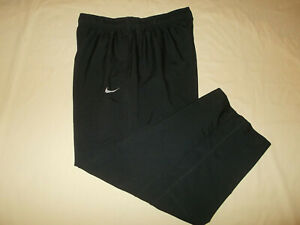 NIKE DRI-FIT BLACK RECYCLED POLYESTER ATHLETIC PANTS MENS XL EXCELLENT CONDITION