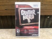 Guitar Hero 5 (Nintendo Wii, 2009)  **DISC ONLY READ**  FULLY TESTED  #2