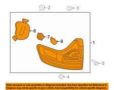 TOYOTA OEM 11-14 Sienna Taillight Tail Light-Rear-Combo Assy Left 8156008030