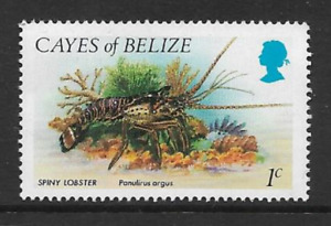 CAYS OFBELIZE POSTAGE MINT NEVER HINGED DEFINITIVE STAMP 1984 - MARINE FAUNA