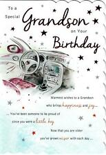 Stunning Modern Design To A Special Grandson On Your Birthday Greeting Card