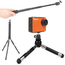 2-in-1 Selfie/Vlog Monopod Extension And Telescopic Tripod for Rollei S-50 / 5S