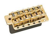 Gotoh GE101T Stratocaster Strat Style Tremolo Guitar Bridge • Gold