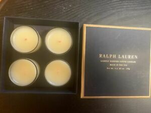 RALPH LAUREN Candle Pied-A-Terre Votive Set of 4 NEW IN BOX