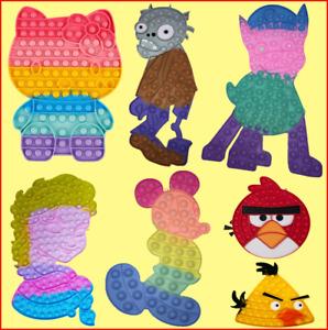 Push Pop Fidget Kids Toy Frozen Girl Bubble Special Needs Sensory Autism AZJ