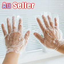 200pcs Disposable Plastic Gloves Food Safe Catering Home Kitchen Service Cleanin