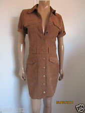 CURRENT ELLIOTT The Trucker Calf Leather Shirtdress Size 2 / M ~NWT~ $998