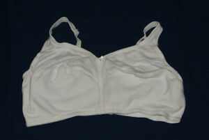 44DD White Bra Comfort Choice New Cotton Bow Womens Plus Size Wireless