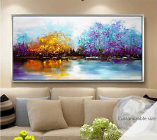 VV812 Large Hand-painted abstract Scenery oil paintng on canvas Color Forest