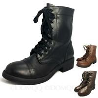Ladies Shoes Vintage Womens Booties Martin Winter ankle lace up Boots size 3-8