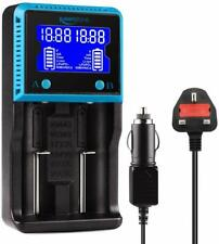 Keenstone 18650 Battery Charger UK Dual 18650 Charger with LCD Screen for Ni-MH
