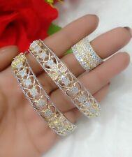 Indian Fashion Wear Bangles Ring Combo Set Fashion Jewelry Pakistani Women Girl