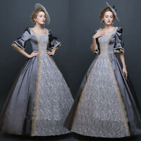 Womens Victorian Royal Retro Ball Gown Wedding Party Dress Medieval Costume Lot