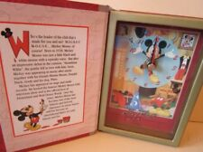 DISNEY MICKEY MOUSE STORYBOOK CLOCK FROM DISNEY TIMEWORKS