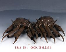 Old Chinese Bronze Handmade A Pair of Warrior Gloves HT121