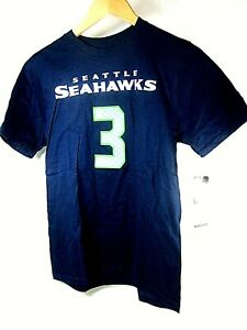 Outerstuff Seattle Seahawks #3 Russell Wilson Youth Boy's Shirt,Size Large,New