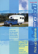 Prospekt Bimobil Husky 240 Reisemobil 2002 Broschüre Wohnkabine Mitsubishi Ford