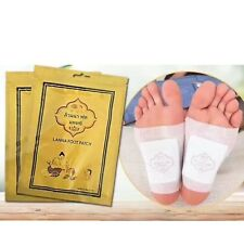 THAI LANNA FOOT Patch Natural Herb Detox Foot Cleansing Health Care 2 Pack=20Pcs