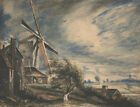 Mill Near Colchester John Constable Painting Print on Canvas Reproduction Small