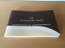 New - OFFICINA DEL TEMPO Montres Orologi - Istruzioni istruzioni