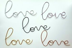 Wire Word Metal Love Sign Wall Art various colours anniversary gift