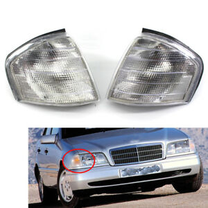 For Mercedes Benz C Class W202 1994-2000 Pair L+R Corner Lights Turn Signal Lamp