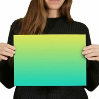 A4 - Green Blue Ombre Yellow Fun Poster 29.7X21cm280gsm #2681
