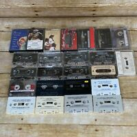 Lot of 24 Audio Cassette Tapes Various Artists and Genres
