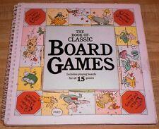 BOOK OF CLASSIC BOARD GAMES - Checkers, Backgammon