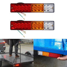 20 LED Tail lights Trailer Stop Back Reverse Indicator Lamps Bulbs Parts