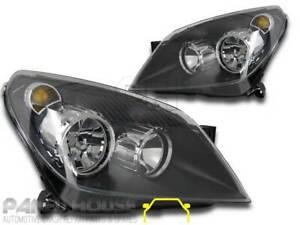 Headlights PAIR Black ADR fits Holden AH Astra 04-06 PR