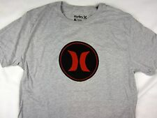 Hurley surf premium fit gray short sleeve tee shirt men's size SMALL