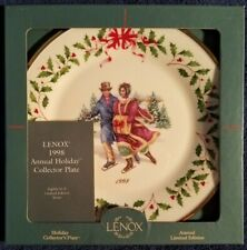 Lenox 1998 Annual Holiday Collector Christmas plate #8 Skaters w/Original box