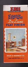 ERH Eganite DeLuxe Flat Finish Paint Brochure Chips 1949 Egan & Hausman