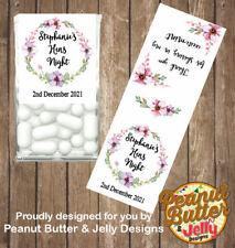 Personalised Floral Hens / Bridal Shower Tic Tac Favour Gloss Sticker 14 Labels