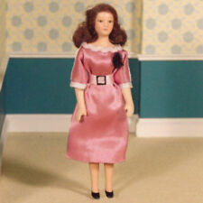 Dolls House Miniature 1:12th Scale Margot Doll In Pink Dress